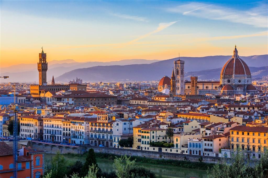 Florencie s koupáním u moře -